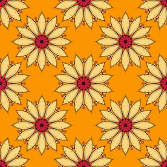 Kleurrijk mandala naadloos patroon klaar om af te drukken