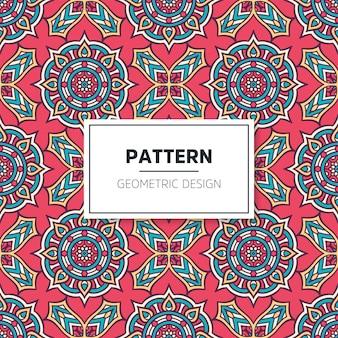 Kleurrijk mandala naadloos patroon