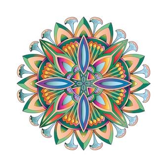 Kleurrijk mandala-ontwerp, behangafdrukontwerp