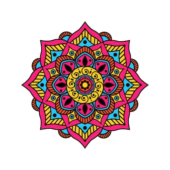 Kleurrijk mandalaontwerp