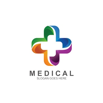 Kleurrijk medisch kruislogo