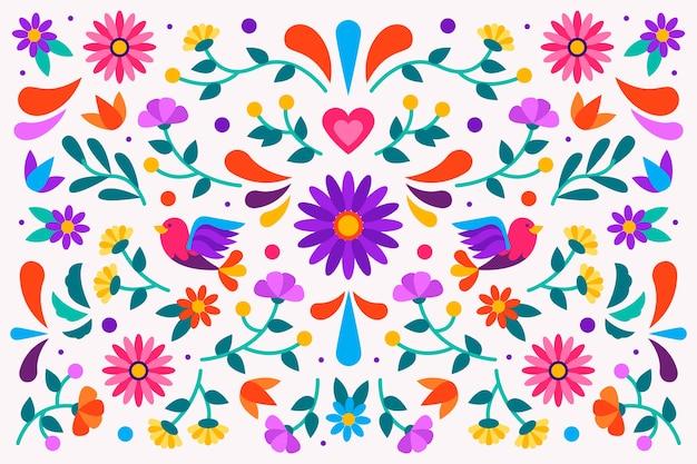 Kleurrijk mexicaans behang