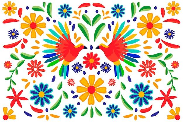 Kleurrijk mexicaans behangontwerp