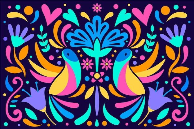 Kleurrijk mexicaans concept als achtergrond