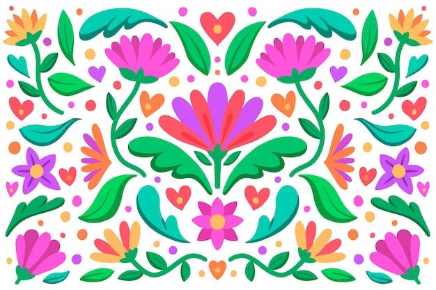 Kleurrijk mexicaans ontwerp als achtergrond