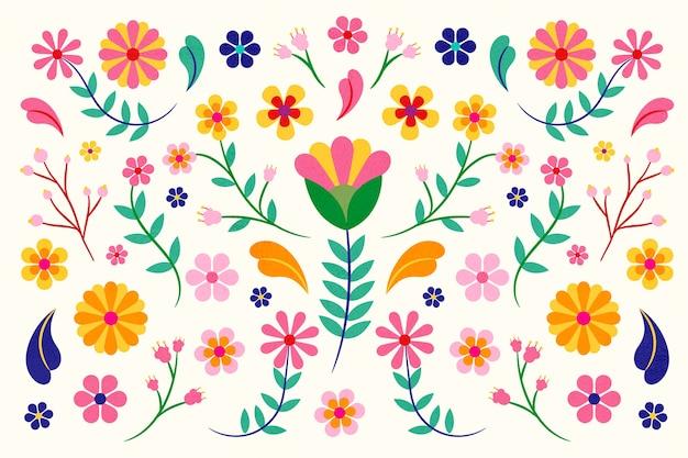 Kleurrijk mexicaans thema als achtergrond