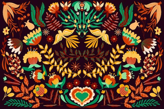 Kleurrijk mexicaans thema voor behang