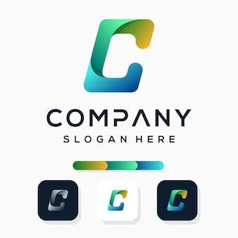Kleurrijk modern letter c logo-ontwerp