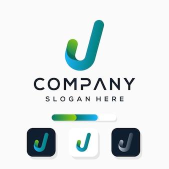 Kleurrijk modern letter j-logo-ontwerp