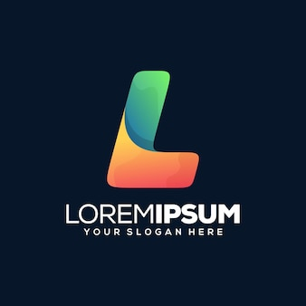 Kleurrijk modern letter l-logo-ontwerp
