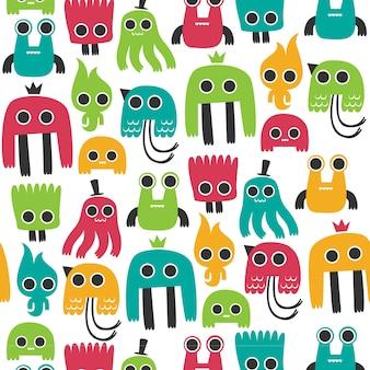 Kleurrijk monsterpatroon