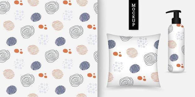 Kleurrijk naadloos patroon met cirkels