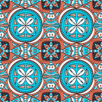 Kleurrijk naadloos patroon met mandala