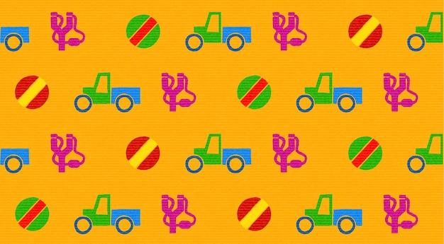Kleurrijk naadloos patroon met speelgoed