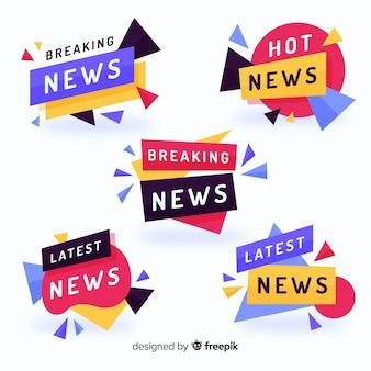 Kleurrijk nieuwste nieuwsbannerpak