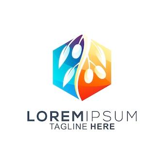 Kleurrijk olijf logo ontwerp