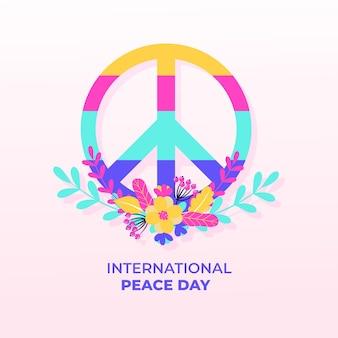 Kleurrijk ontwerp internationale dag van de vrede