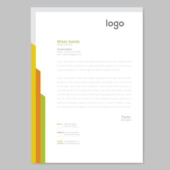 Kleurrijk ontwerp met briefhoofd