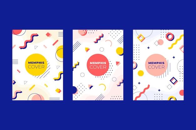Kleurrijk ontwerp omslagset