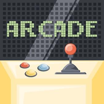 Kleurrijk ontwerp van arcade videogame