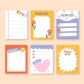 Kleurrijk ontwerp van plakboek en notities