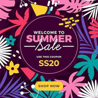 Kleurrijk ontwerp zomer verkoop