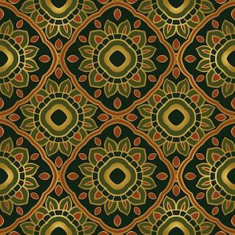 Kleurrijk oosters ornament naadloos patroon van mandala's.