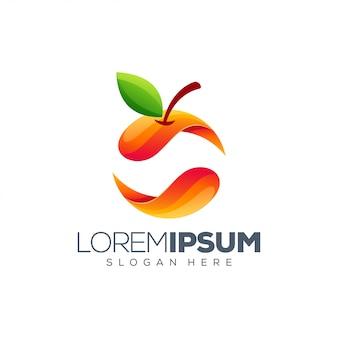Kleurrijk oranje logo