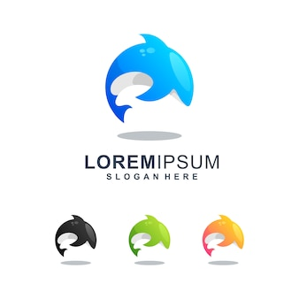Kleurrijk orka-logo