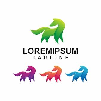 Kleurrijk paard logo
