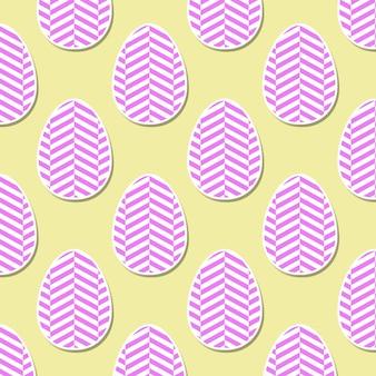 Kleurrijk paaseipatroon met geometrische vormillustratie voor vakantieachtergrond. creatieve en modieuze stijlkaart