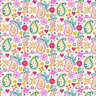 Kleurrijk paisley naadloos patroon