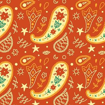 Kleurrijk paisley patroon