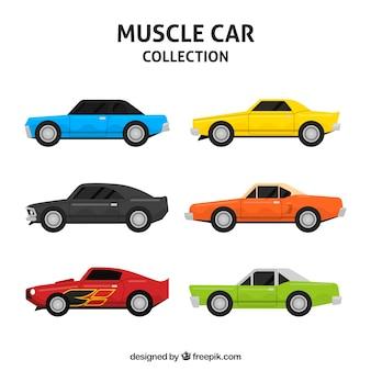 Kleurrijk pak krachtige auto's