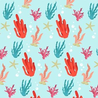 Kleurrijk patroon met koralen