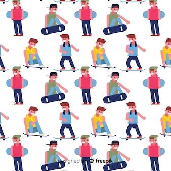 Kleurrijk patroon van jonge mensen