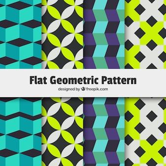 Kleurrijk plat geometrisch patroon