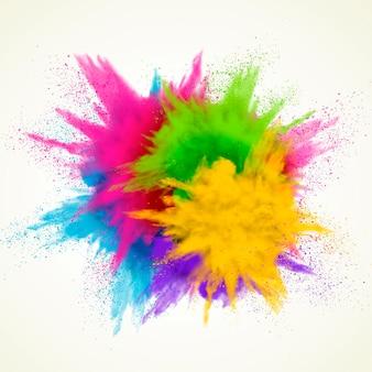 Kleurrijk poederexplosie-effect