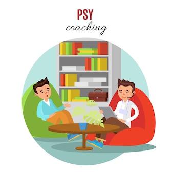 Kleurrijk psychologisch trainingsconcept