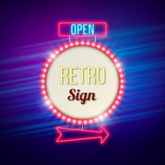 Kleurrijk retro teken