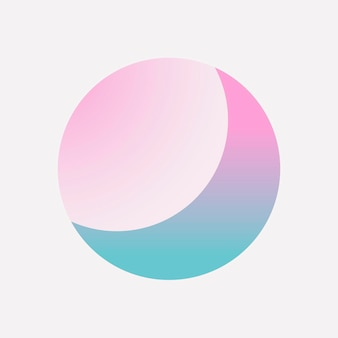 Kleurrijk rond verloopelement