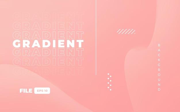 Kleurrijk roze achtergrondontwerp met gradiënt