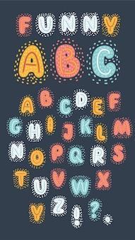 Kleurrijk schattig en grappig lettertype