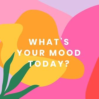 Kleurrijk social media-sjabloon met positieve quote-set