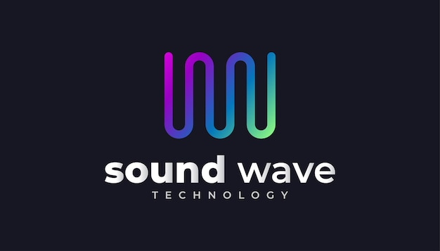 Kleurrijk sound wave-logo