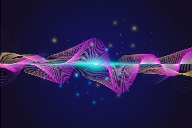Kleurrijk soundwave behang