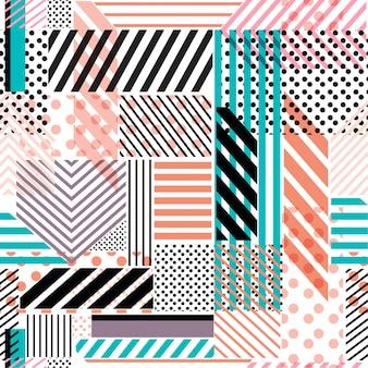 Kleurrijk stippen naadloos patroon