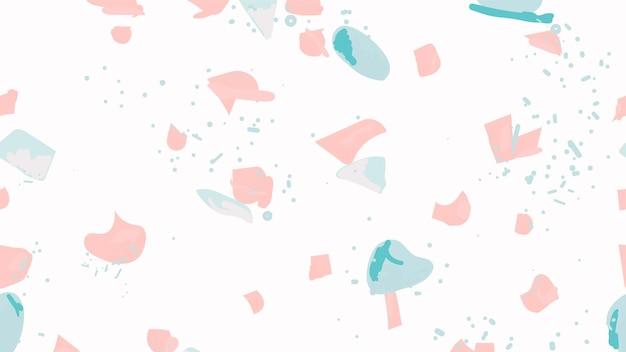 Kleurrijk terrazzo abstract naadloos patroon als achtergrond in roze en blauw