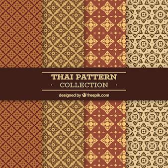 Kleurrijk thais patroon met vlak ontwerp
