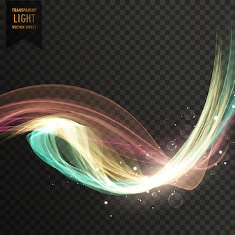Kleurrijk tranparent lichteffect vector achtergrond